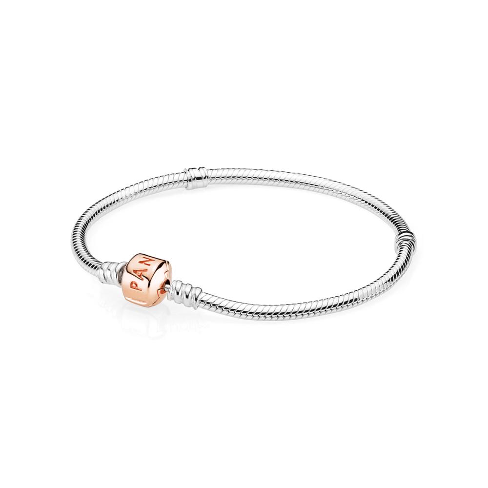 Bracelete De Prata Com Fecho Rosê - 580702 - pandorajoias 65c15487bd