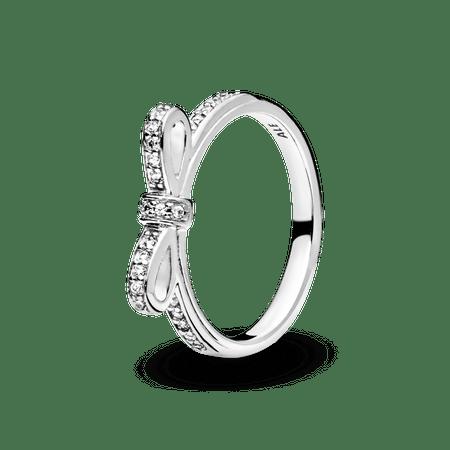 Anel De Prata Laço - 50