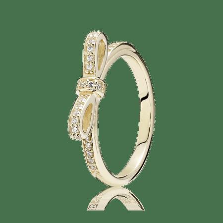 Anel De Ouro Laço - 50