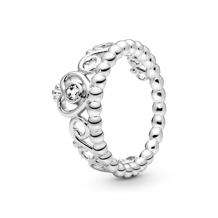 Anel De Prata Tiara De Princesa - 50